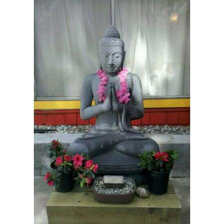 WholesaleTeak New Large Hand Carved Stone Sitting Buddha Statue #WMAXBUST