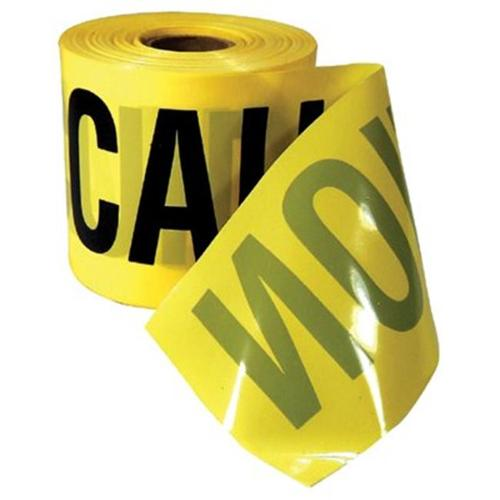 Empire Level 272-77-0201 3 inch X200 ft.  Caution Tape Yellow with Black Print