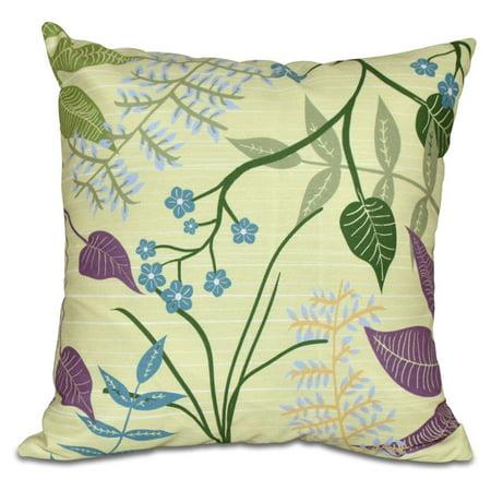 E by Design Botanical Blooms Botanical Decorative Pillow ()