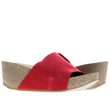 Riverside Wedge Red Women's Sandal Red Suede Wedge