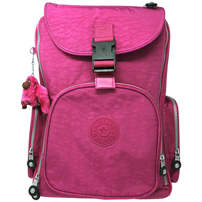 Kipling Large Alcatraz Wheeled Nylon Backpack - Very Berry