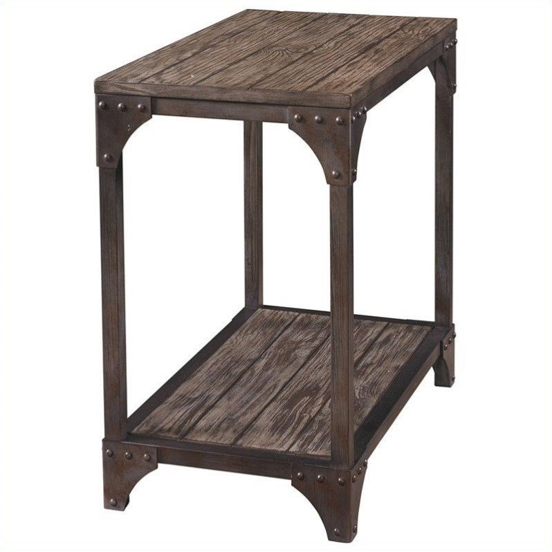 Powell Furniture Benjamin Chairside Table in neutral - image 3 of 3