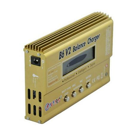 B6 V2 80W 10A RC Digital Battery Balance Charger Discharger For LiPo Batter  - image 3 de 7