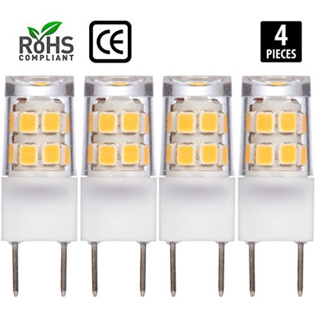 4 Pack Simba Lighting Led G8 2w 180lm 17smd2835 T4 35mm Short Light Bulb 20w Halogen Replacement 120v For Accent Lights Under Cabinet
