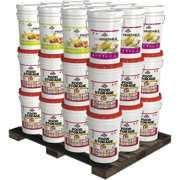 Augason Farms Super 1-Year 2-Person Emergency Food Storage Pails Kit, 36 count