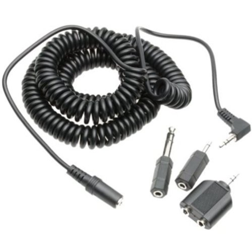 Maxell 20-Foot Coiled Headphone Extension Cord w/ 4 Adapters