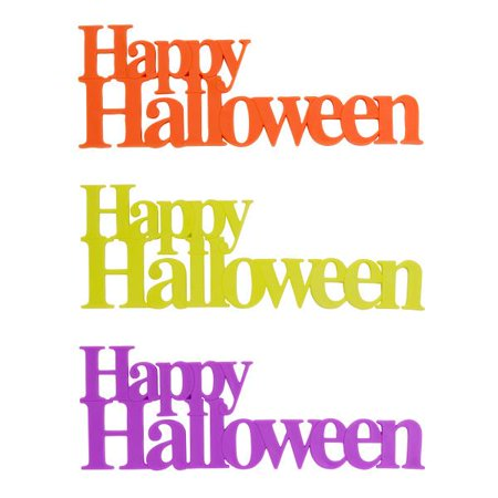 Happy Halloween Script Layon 12 Count (Happy Halloween And Happy Birthday)