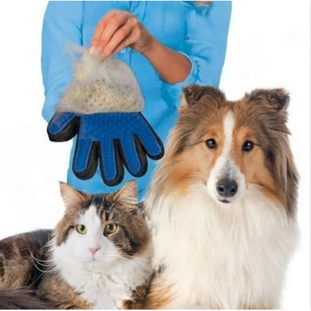Massage True Glove Touch Gentle Efficient Pet Grooming Dogs Cats Cleaning