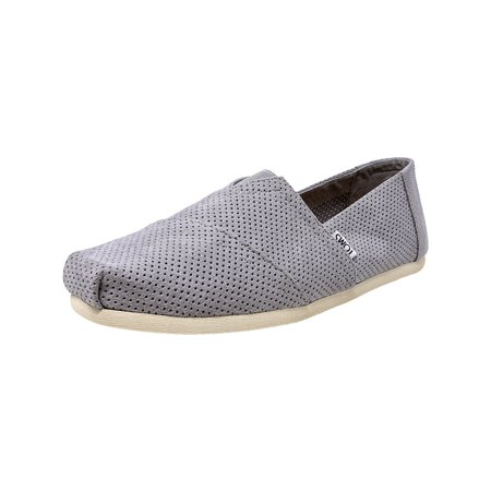 Toms Men's Classic Perforated Suede Drizzle Grey Ankle-High Slip-On Shoes - 10M