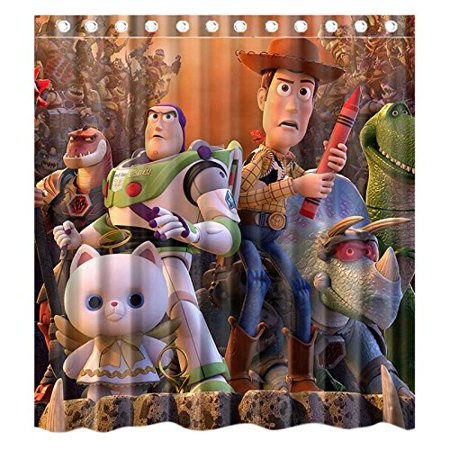 DEYOU Carton Anime Toy Story That Time Forgot Shower Curtain Polyester Fabric Bathroom Size