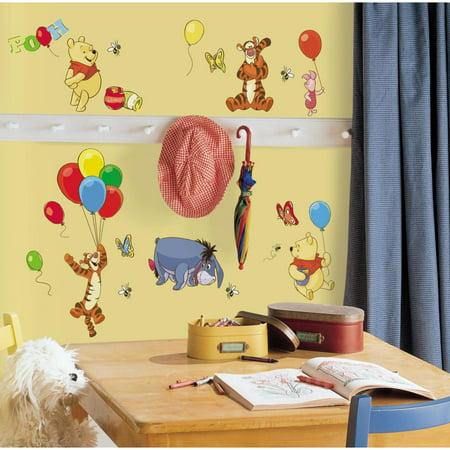 Disney WINNIE THE POOH 38 Peel & Stick Wall Stickers Tigger Eeyore ...