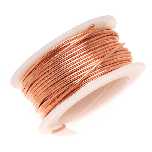 Artistic Wire, Copper Craft Wire 34 Gauge Thick, 30 Yard Spool, Tarnish Resistant Natural Copper