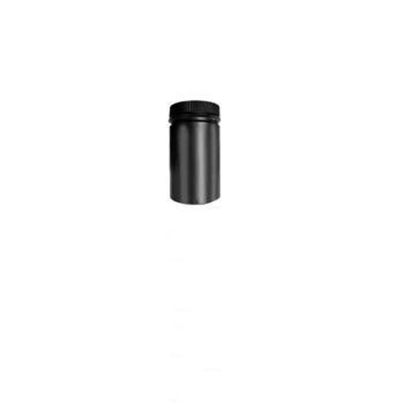 8'' x 12'' Model DSP Double-Wall Black Stove Pipe Section - Model Dsp Double Wall Stove