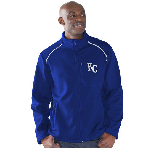 Men's G-III Sports by Carl Banks Royal Kansas City Royals Rebound Full-Zip Fleece Jacket by