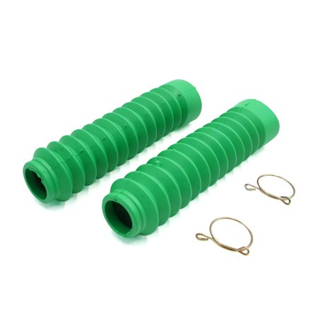 Green Rubber Cover (2Pcs Green Rubber Motorcycle Front Fork Shock Absorber Dust Cover for GS125 )