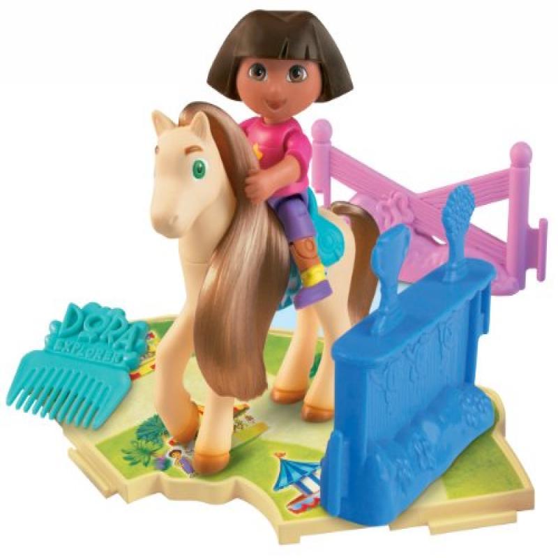 Fisher Price Dora's Pony Adventures Playset: Dora & Cookie by