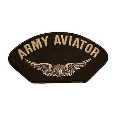 US ARMY AVIATOR PATCH W/ PILOT WINGS BADGE VETERAN