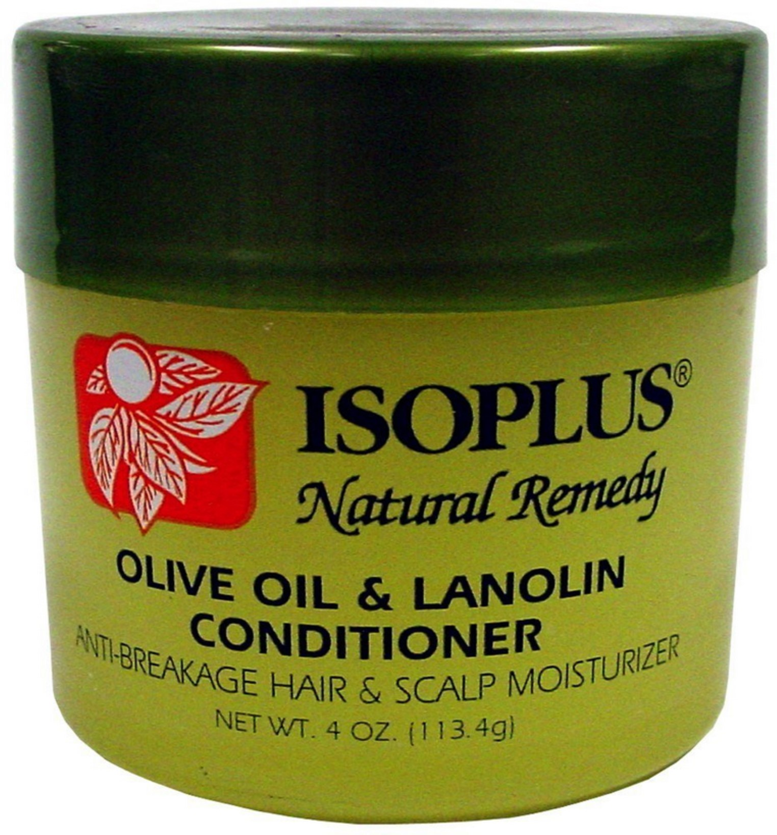 Isoplus Natural  Remedy Olive Oil & Lanolin Contitioner, 4 oz (Pack of 2)