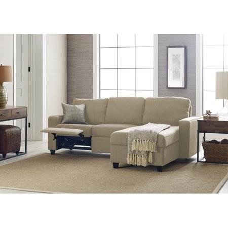 Serta Palisades Reclining Sectional with Right Storage Chaise - Oatmeal ()