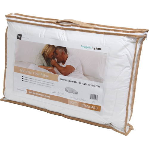 Leggett & Platt Home Textiles Soft Micro Gel Pillow, Multiple Sizes