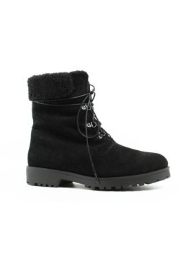 New Andre Assous Womens Black Snow Boots Size 7