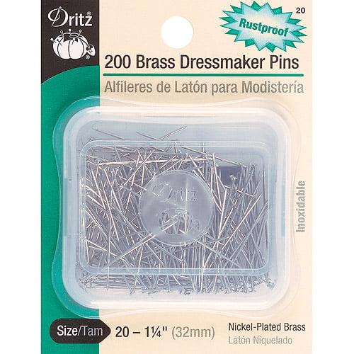 Brass Dressmaker Pins, Size 20, 200pk