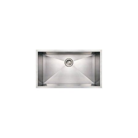Whncm 15 In Noahs Collection Commercial Single Bowl Undermount Sink