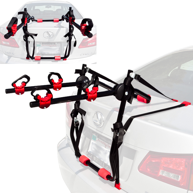 2 Bicycle Bike Rack Trunk Mount Carrier SUV Cars Wagon