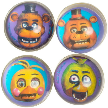 Five Nights at Freddy's Bouncy Ball Party Favors, 4ct