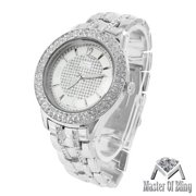 Mens White Finish Watch Lab Created Cubic Zirconia Silver Joe Rodeo Jojino KC Water Resistant