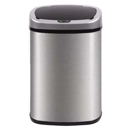 BestMassage Stainless Steel 13 Gal Kitchen Trash Can with Touch Free Automatic -