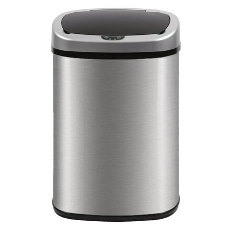 BestMassage Stainless Steel 13 Gal Kitchen Trash Can with Touch Free Automatic Sensor