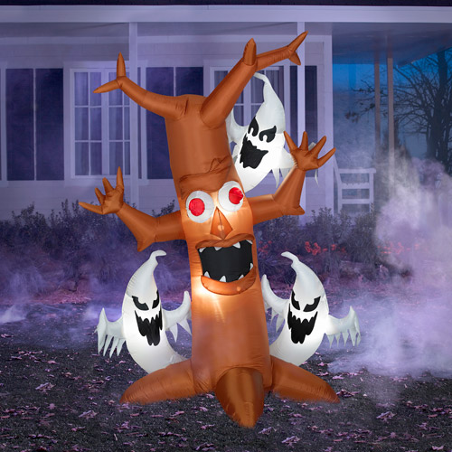 7' Tall Airblown Inflatable Halloween Scary Tree