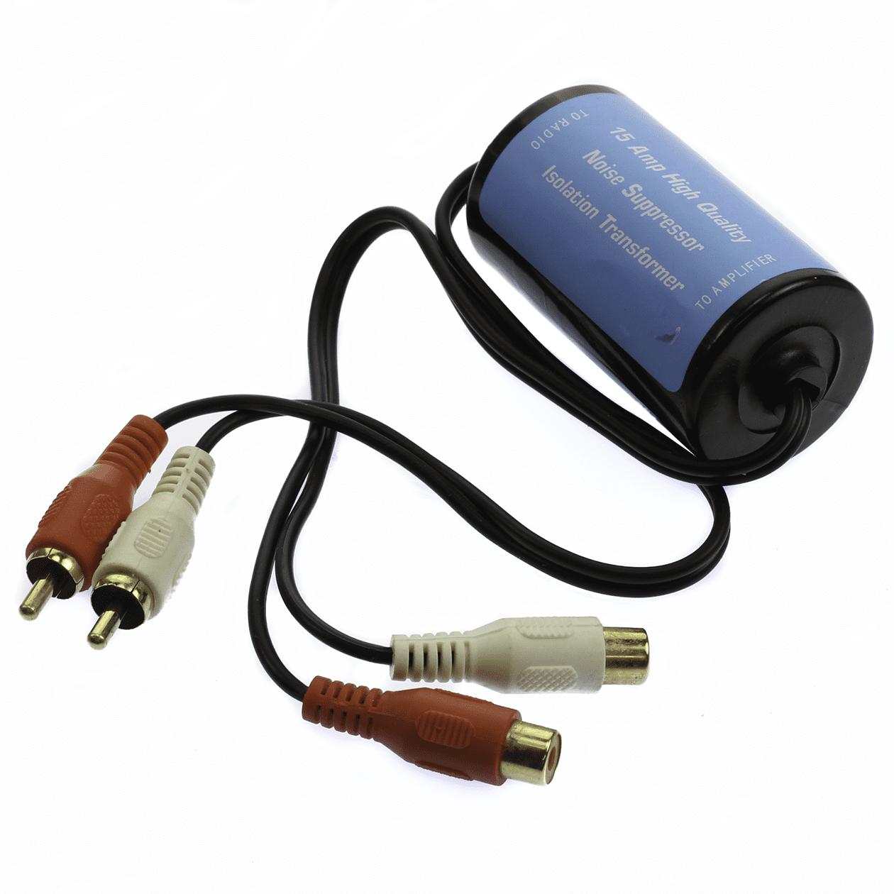 "15 Amp Ground Loop Isolator Noise Suppressor Filter Killer RCA to RCA 20 AMP 23"" long"