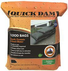 Quick Dam Expanding Sandless Sandbag, 12 X 24 In., 6 Per Bag