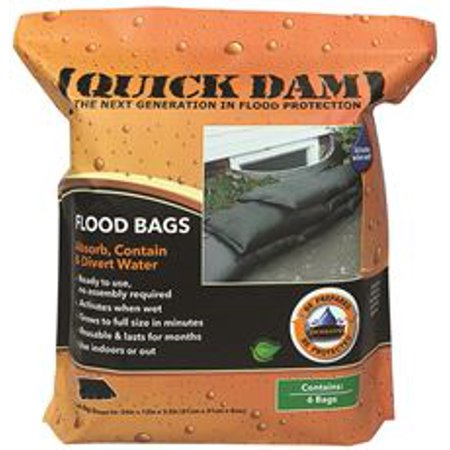 Quick Dam Expanding Sandless Sandbag, 12 X 24 In., 6 Per (Best Sandbags For Flooding)