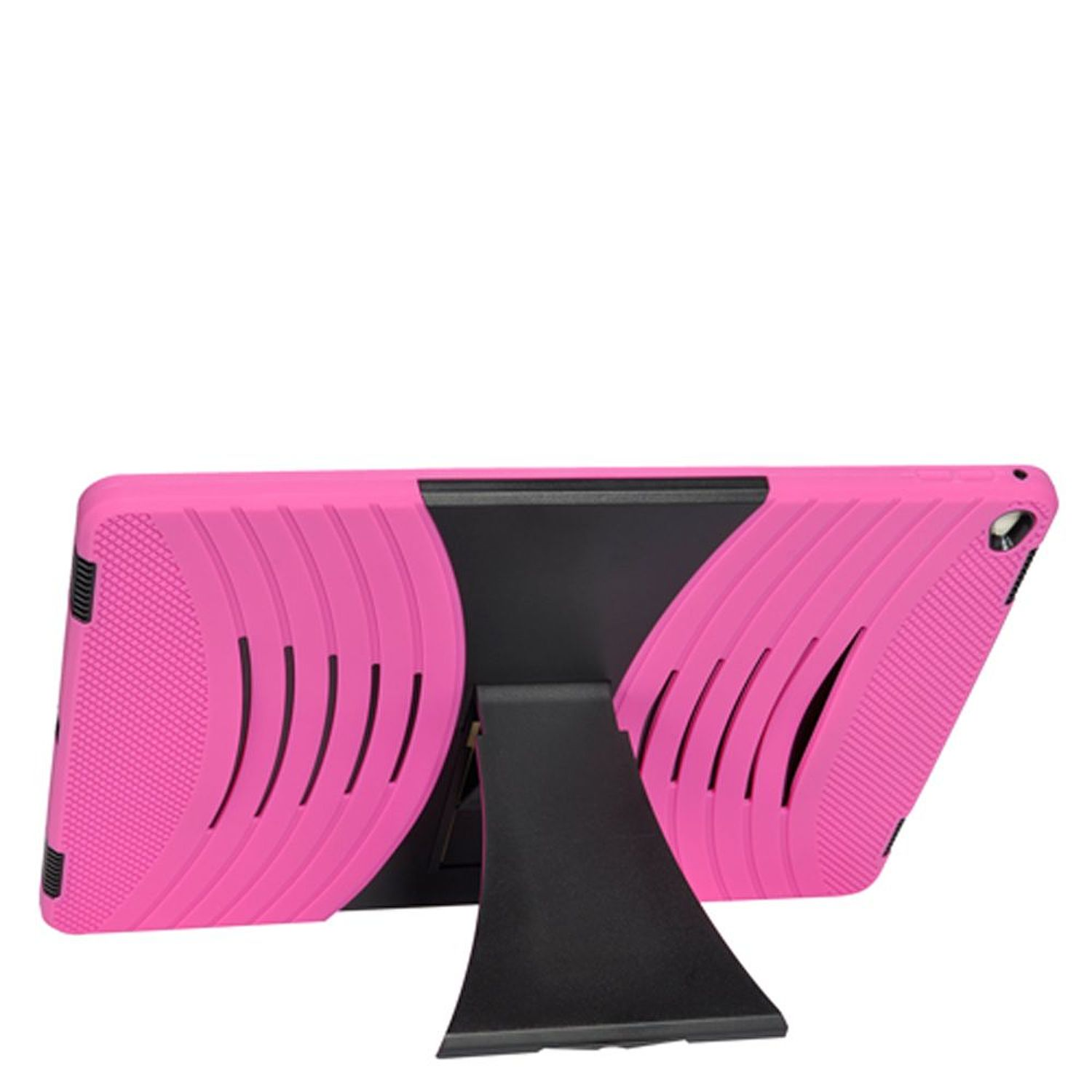 """iPad Pro 12.9"""" Cover Case, by Insten Dual Layer [Shock Absorbing] Hybrid Stand Rubber Silicone/Plastic Case Cover For Apple iPad Pro 12.9"""", Hot Pink/Black"""