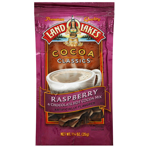 Land O Lakes Raspberry & Chocolate Cocoa Mix, 1.25 oz (Pack of 12)