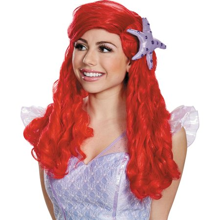 Morris Costumes Womens Polyester Ariel Prestige Gloriously Red Wig, Style DG98456](Ariel Wig)