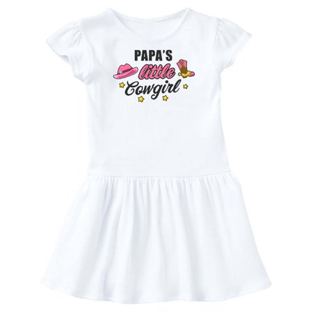 Papas Little Cowgirl with Cowgirl Hat and Boots Toddler Dress (Cowgirl Western Dresses)