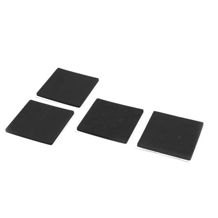 Home Square Shaped Table Chair Furniture Foot Protection Pad Black 4 Pcs ()