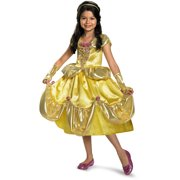 Child Deluxe Disney Beauty And The Beast Princess Belle Shimmer Costume