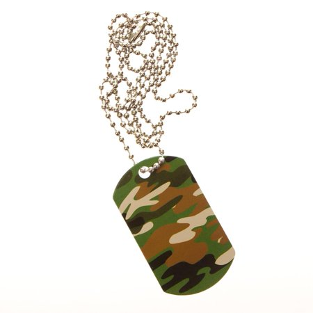 Camouflage Dog Tag Necklaces