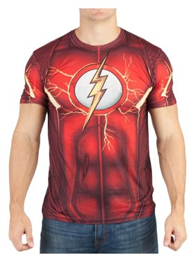 ced3d7d65da Product Image DC Comics Mens Flash Suit Up Sublimated Costume T-shirt