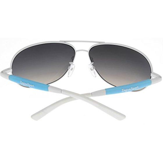 5996d32f9f1a Ermenegildo Zegna - Ermenegildo Zegna Sport Sunglasses Womens White Aviator  SZ3324GN H71B Size: Lens/ Bridge/ Temple: 66-13-130 - Walmart.com