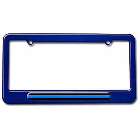 Thin Blue Line, Police License Plate Tag Frame, Multiple Colors ...