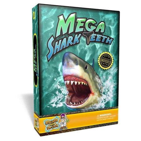 Discover with Dr. Cool Mega Shark Teeth Fossil Science Kit – Includes 5 genuine fossilized shark teeth and a large replica Megalodon tooth](Cool Science Gadgets)