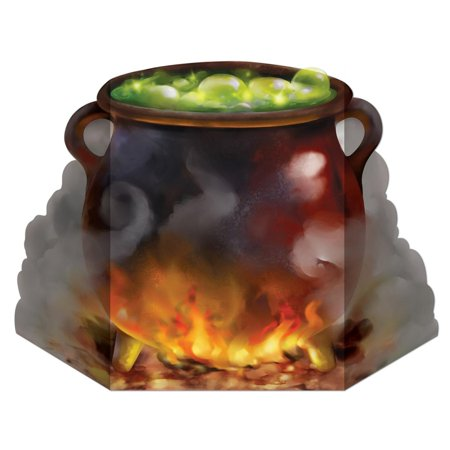 Pack of 6 Bubbling Witch's Cauldron Stand-Up Halloween Decoration 36.5