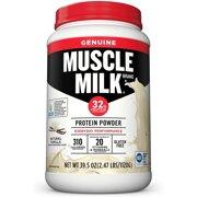 Muscle Milk Genuine Protein Powder, 32g Protein, Natural Vanilla, 2.47 Pound, 16 Servings