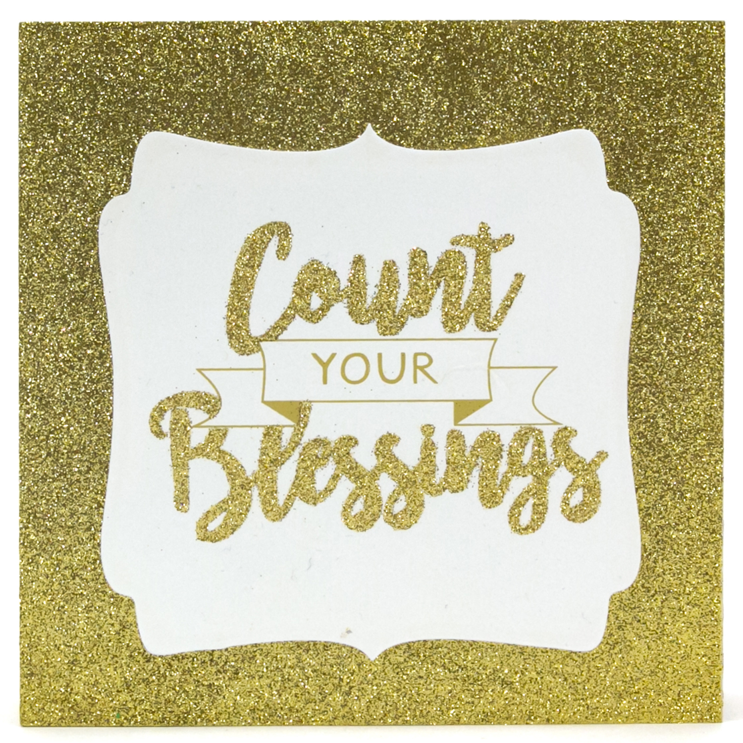 """Count Your Blessings"" Glitter Shadow Box Decor"